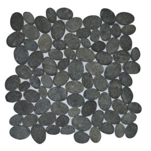 Mosaic Oval Black Gray 30×30