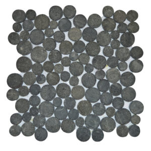 Mosaic Coin Black Gray 30×30