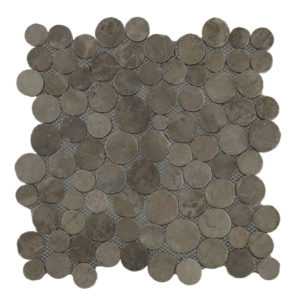 Mosaic Coin Light Brown 30×30