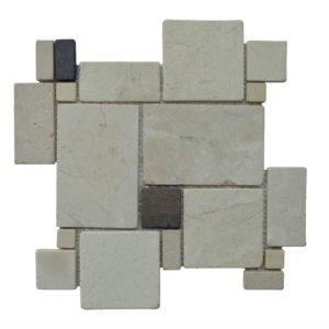 MOSAIC RANDOM BIG Cream – Grey Y