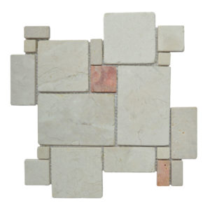 MOSAIC RANDOM BIG Cream – Terracota Y