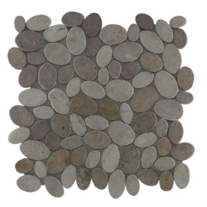 Mosaic Oval Mix Yucatan Brown – Cream 30×30