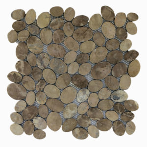 Mosaic Oval Light Brown 30×30