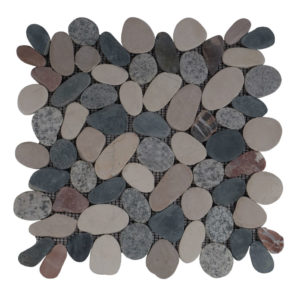 Pebble Sliced Tumb Honed Mix CTBBR 30X30 S