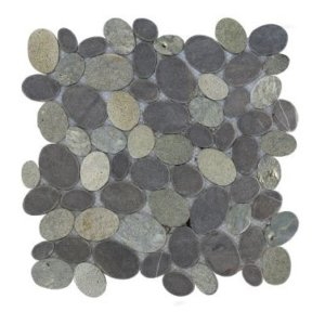Mosaic Oval Mix Gray – Light Gray 30×30