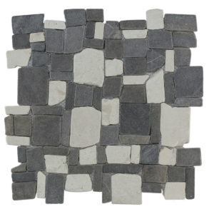 Mosaic Random Mix Gray – Cream 30×30