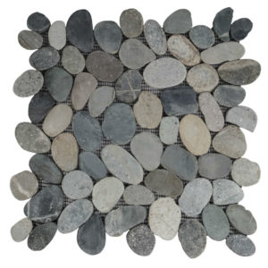 Pebble Sliced Tumb Honed Greeny Swarthy 30×30 S
