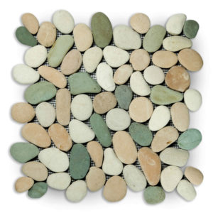 Pebble Mix White,green And Pink 30×30 S
