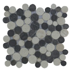 Mosaic Coin Mix Gray – Cream 30×30