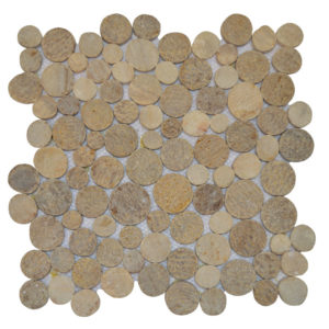 Mosaic Coin Mix Onyx – Sunset Brown 30×30