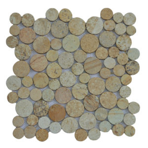 Mosaic Coin Yellow Sand 30×30