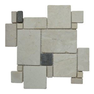 MOSAIC RANDOM BIG Cream – Light Grey Y