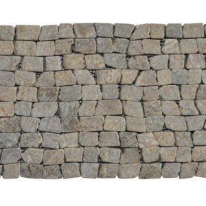 Brick Mosaic Sunset Brown Tumble 30×15 Y