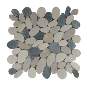 Pebble Sliced Tumb Honed Mix Black & Brown 30×30 S