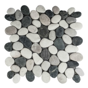 Pebble Mix Swarthy Black, White & Asian Tan 30×30 S