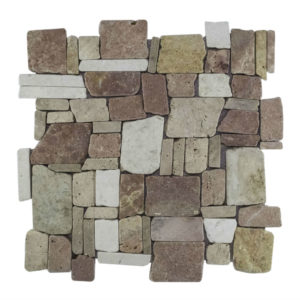 Mosaic Random Mix Yucatan Brown – Cream 30×30