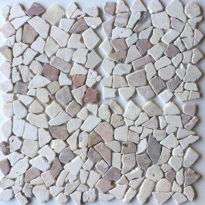 Mosaic Mix Onyx – Cream – Yucatan Brown 30×30 Y