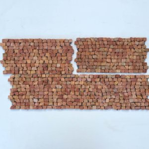 Brick Mosaic Red Tumble 30×15 Y