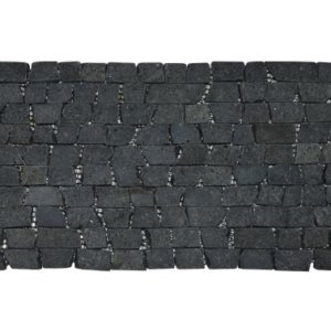 Brick Mosaic Black Gray Tumble 30×15 Y