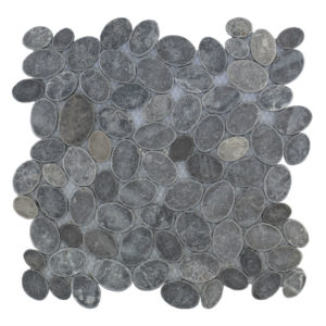 Mosaic Oval Gray Blue 30×30