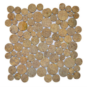 Mosaic Coin Sunset Brown 30×30