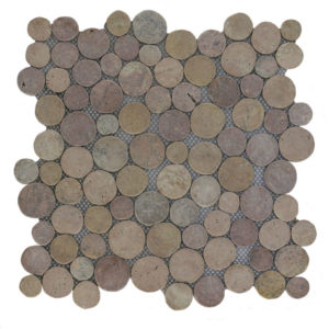 Mosaic Coin Yucatan Brown 30×30