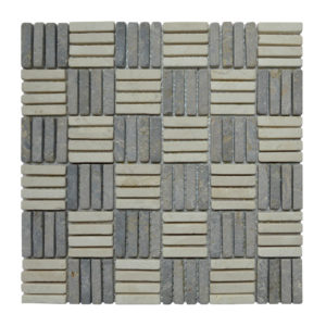 Parquet 1 X 4.8 Mix Cream – Light Grey Y