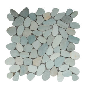 Pebble Sliced Tumb Honed Green  30×30 S