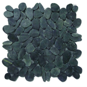 Pebble Sliced Tumb Honed Oval Round Mix Gray 30×30 S